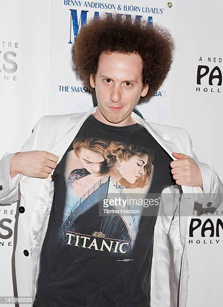 Josh Sussman attends the opening night of 'Mamma Mia' at the Pantages Theatre on March 27 2012 in Hollywood California