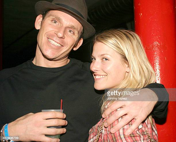 Josh Taekman of Buzztone and Ali Larter during QTip's Birthday Party Presented by Bacardi Flavors at Mobilia Loft at Private Loft in New York City...