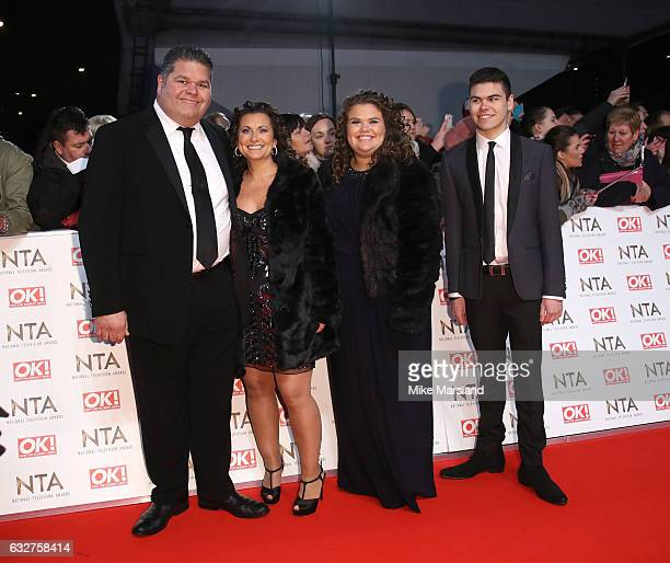 Josh Tapper Nikki Tapper Amy Tapper and Jonathan Tapper attend the National Television Awards at The O2 Arena on January 25 2017 in London England
