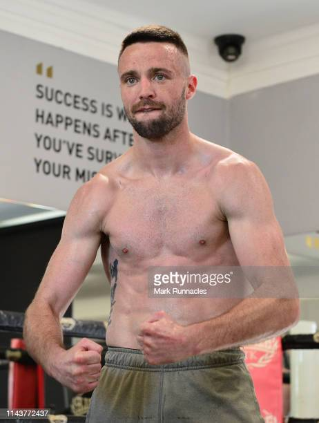 Josh Taylor of Scotland during a Media Work out ahead of the Muhammad Ali Trophy SemiFinals World Boxing Super Series Fight Night at MTK Global...