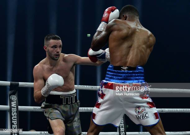 Josh Taylor of United Kingdom takes on Ryan Martin of USA in the World Boxing Council Silver Super Lightweight Title bout during the Ali Trophy...