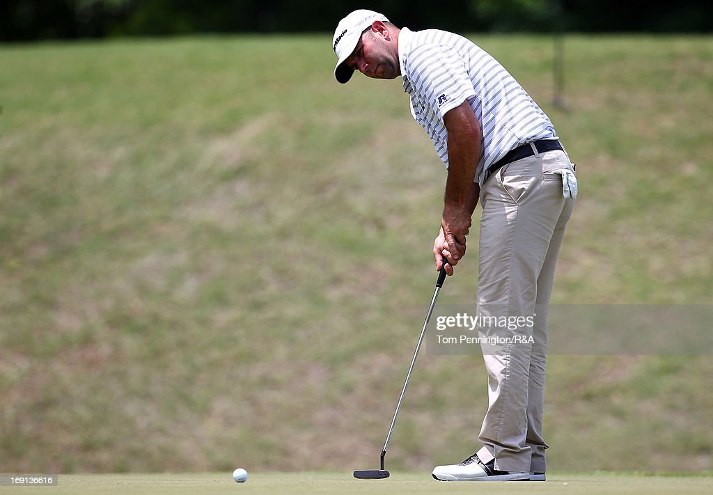 Josh Teater putts the ball during The Open Championship International Final Qualifying America at Gleneagles Golf and Country Club on May 20, 2013 in Plano, Texas.