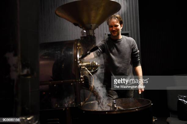 Josh Terrill roasts coffee beans for espresso at Coffee Underground where he has worked for 12 years December 28 2017 in Greenville SC The coffee...