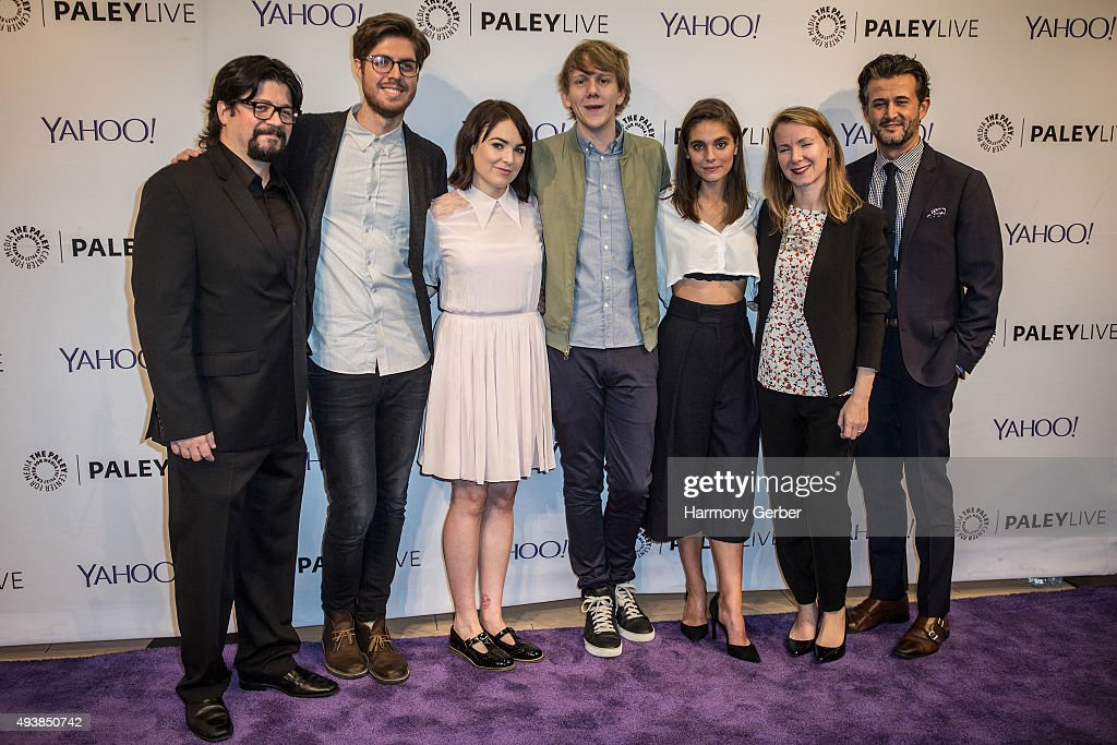 Josh Thomas, Thomas Ward, Caitlin Stasey, Emily Barclay, Belisa Balaban, Chris Loveall and Kent Rees attend the Paley Center for Media on October 22, 2015 in Beverly Hills, California.