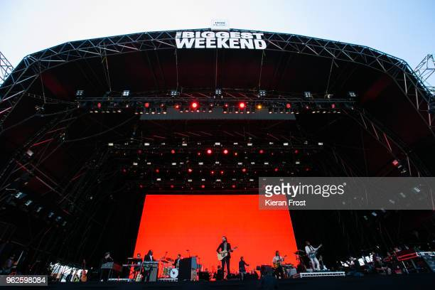 Josh Tillman aka Father John Misty performs at the BBC Biggest Weekend at Titanic Slipways on May 25, 2018 in Belfast, Northern Ireland.