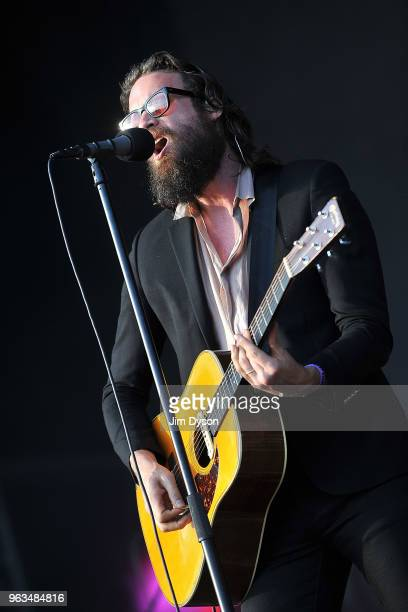 Josh Tillman aka Father John Misty performs live on stage during the All Points East festival at Victoria Park on May 27 2018 in London England