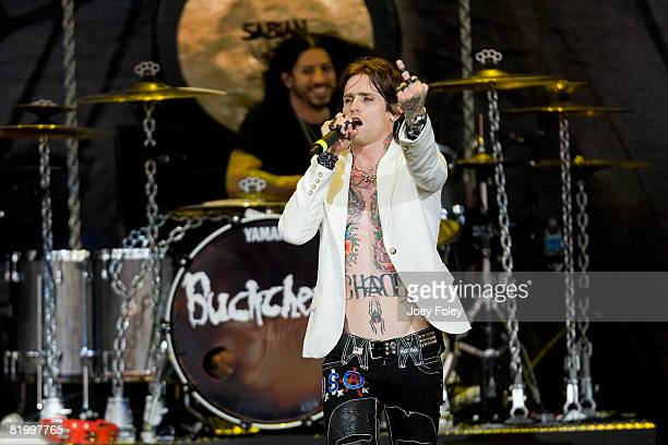Josh Todd of the rock band BuckCherry performs live during Crue Fest 2008 at the Verizon Wireless Music Center on July 18 2008 in Noblesville Indiana