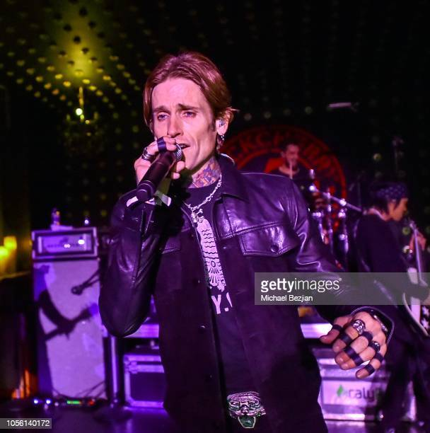 Josh Todd with Buckcherry performing Tat2ween Opening Party on October 31 2018 in Las Vegas Nevada