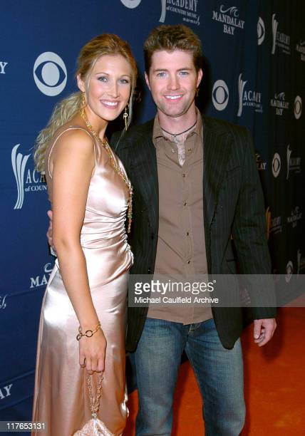 Josh Turner and wife Jennifer during 40th Annual Academy of Country Music Awards Orange Carpet at Mandalay Bay Resort and Casino Events Center in Las...
