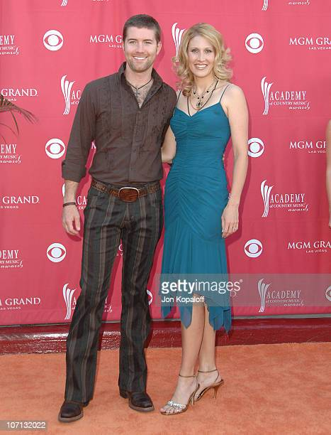 Josh Turner and wife Jennifer during 42nd Academy of Country Music Awards Arrivals at MGM Grand Hotel and Casino Resort in Las Vegas Nevada United...