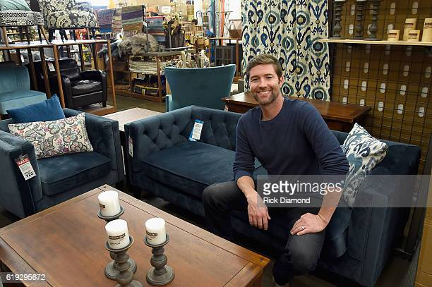 Josh Turner at Cost Plus World Market for a food drive to benefit Second Harvest Food Bank on October 30 2016 in Nashville Tennessee