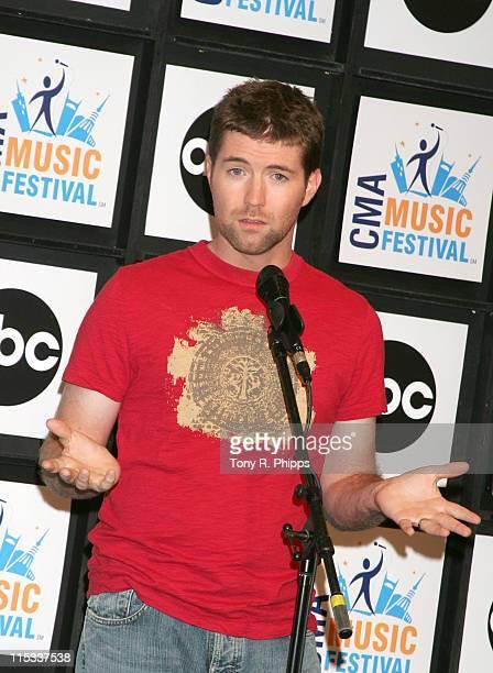 Josh Turner during CMA Music Festival Fan Fair 2007 Saturday Night Press Conference in Nashville Tennessee United States