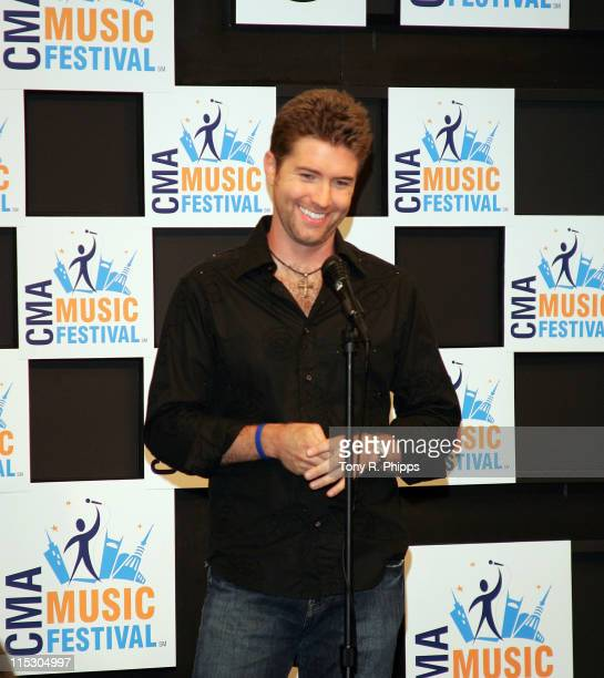 Josh Turner during CMA Music Festival Press Conference Room at CMA Nightly Press Conference Room at The Coliseum in Nashville Tennessee United States