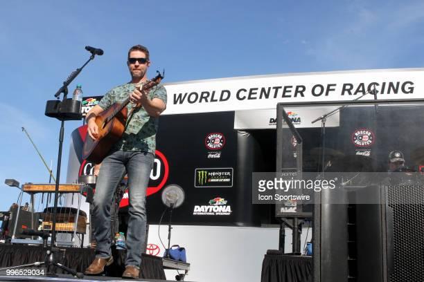 Josh Turner during prerace for the Coke Zero 400 Monster Energy Cup Series race on July 7 at Daytona International Speedway in Daytona Beach FL