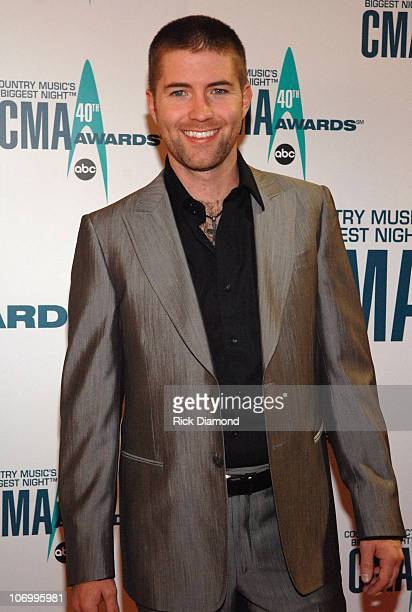 Josh Turner during The 40th Annual CMA Awards Arrivals at Gaylord Entertainment Center in Nashville Tennessee United States