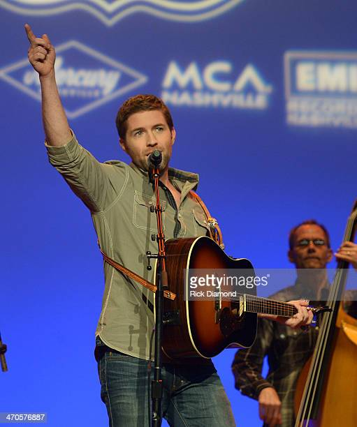Josh Turner performs during Team UMG at The Ryman as part of CRS 2014 on February 19 2014 at the Ryman Auditorium in Nashville Tennessee