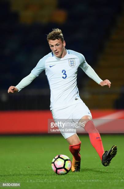 Josh Tymon of England during the U19 International match between England and Germany at One Call Stadium on September 5 2017 in Mansfield England