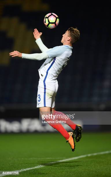Josh Tymon of England in action during the International match between England and Germany at One Call Stadium on September 5 2017 in Mansfield...
