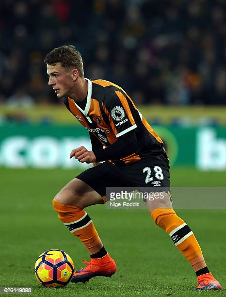 Josh Tymon of Hull City during the Premier League match between Hull City and West Bromwich Albion at KC Stadium on November 26 2016 in Hull England