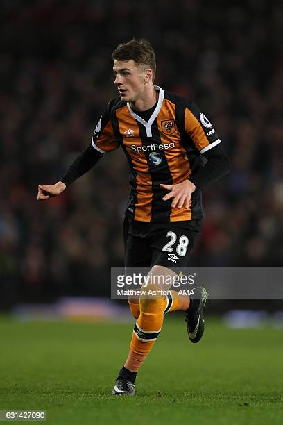 Josh Tymon of Hull City in action during the EFL Cup SemiFinal first leg match between Manchester United and Hull City at Old Trafford on January 10...