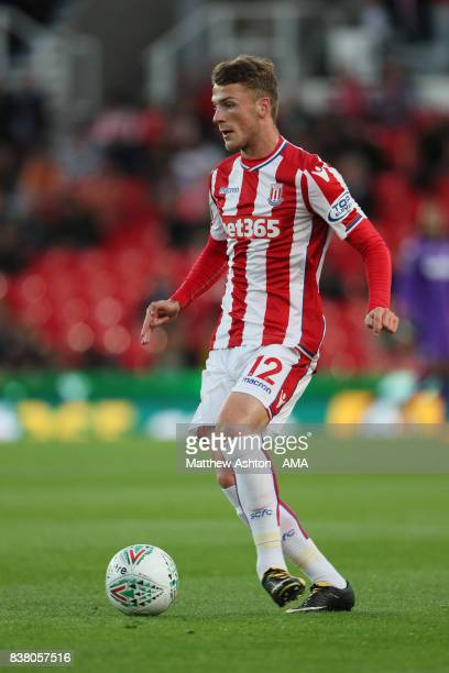 Josh Tymon of Stoke City during the Carabao Cup Second Round match between Stoke City and Rochdale at Bet365 Stadium on August 23 2017 in Stoke on...