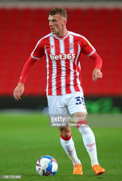 Josh Tymon of Stoke City during the Sky Bet Championship match between Stoke City and Barnsley at Bet365 Stadium on October 21 2020 in Stoke on Trent...