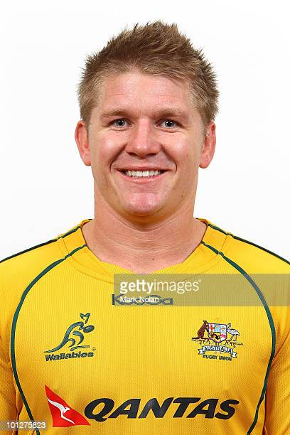 Josh Valentine poses for a photo during the Wallabies squad Headshots at the Crowne Plaza at Crown Plaza Coogee on May 30 2010 in Sydney Australia