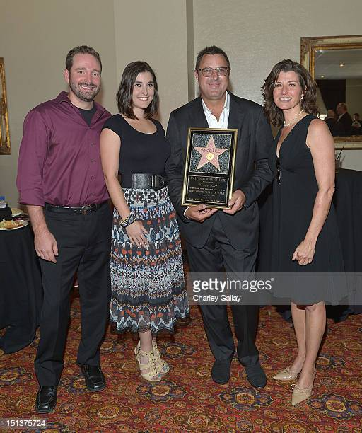 Josh Van Valkenburg Jenny Gill Vince Gill and Amy Grant attend a luncheon following Vince Gill being honored with a Star on the Hollywood Walk of...
