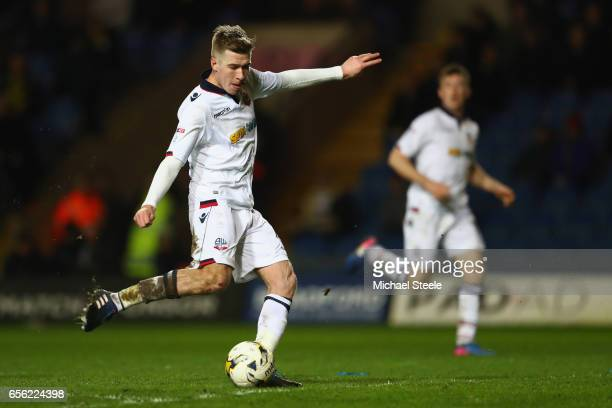 Josh Vela of Bolton scores his sides fourth goal during the Sky Bet League One match between Oxford United and Bolton Wanderers at the Kassam Stadium...