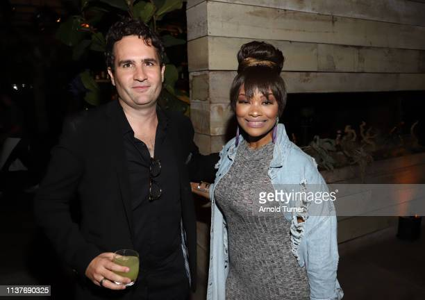 Josh Wakely and Rhonda Morman attend Netflix's NAACP Image Awards Nominee Celebration at Hinoki & The Bird on March 22, 2019 in Los Angeles,...
