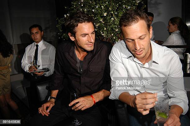 Josh Wald and Josh Charles attend CALVIN KLEIN UNDERWEAR Dinner Party for Natalia Vodianova and Freddie Ljungberg at Perry St on June 16 2005 in New...