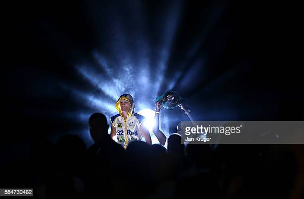 Josh Warrington makes his way to the ring against Martin Lindsay for their Vacant British & Commonwealth Featherweight title fight at First Direct...