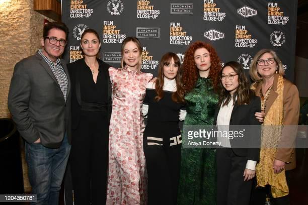 Josh Welsh Laure de ClermontTonnerre Olivia Wilde Lorene Scafaria Alma Har'el Lulu Wang and Maria Raquel Bozzi at the Film Independent's Directors...