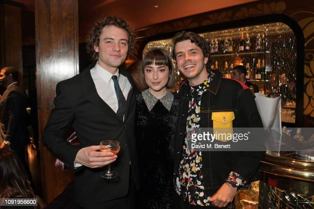 Josh Whitehouse Ellise Chappell and Harry Richardson attend the Vanity Fair EE Rising Star Party ahead of the 2019 EE BAFTAs at The Baptist L'Oscar...