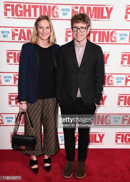 Josh Widdicombe and guest attend the UK Premiere of Fighting With My Family at BFI Southbank on February 25 2019 in London England