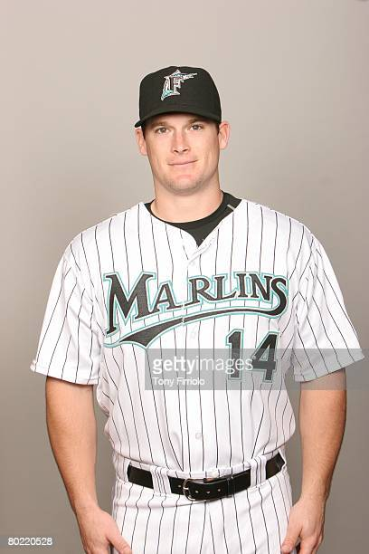 Josh Willingham of the Florida Marlins poses for a portrait during photo day at Roger Dean Stadium on February 22 2008 in Jupiter Florida