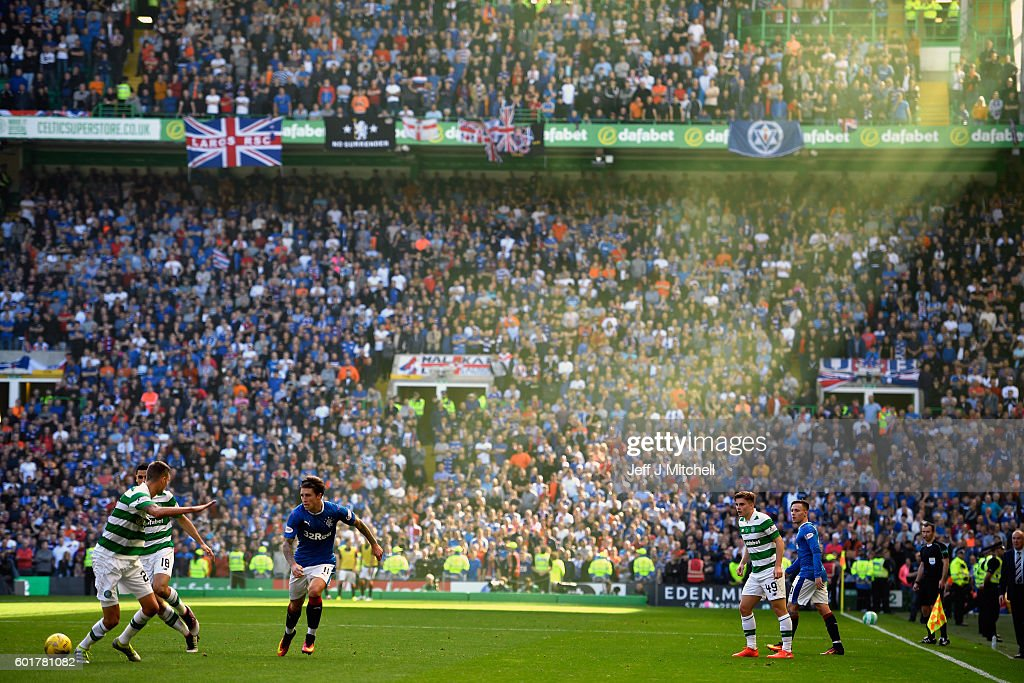 Josh Windass of Rangers in action during the Ladbrokes Scottish Premier league match between Celtic and Rangers at Celtic Park Stadium on September 10, 2016 in Glasgow, Scotland.