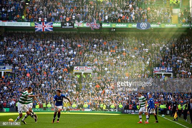 Josh Windass of Rangers in action during the Ladbrokes Scottish Premier league match between Celtic and Rangers at Celtic Park Stadium on September...