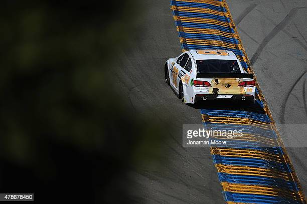 Josh Wise driver of the Dogecoin Chevrolet practices for the NASCAR Sprint Cup Series Toyota/Save Mart 350 at Sonoma Raceway on June 26 2015 in...