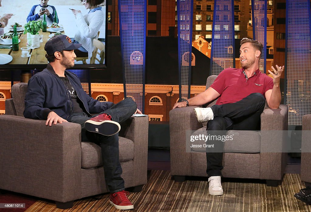 Josh Wolf and Lance Bass attend 'The Josh Wolf Show' on July 15, 2015 in Los Angeles, California.