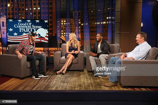 Josh Wolf hosts singersongwriter Jewel on The Josh Wolf Show June 24 2015 in Los Angeles California The show airs June 25 on CMT