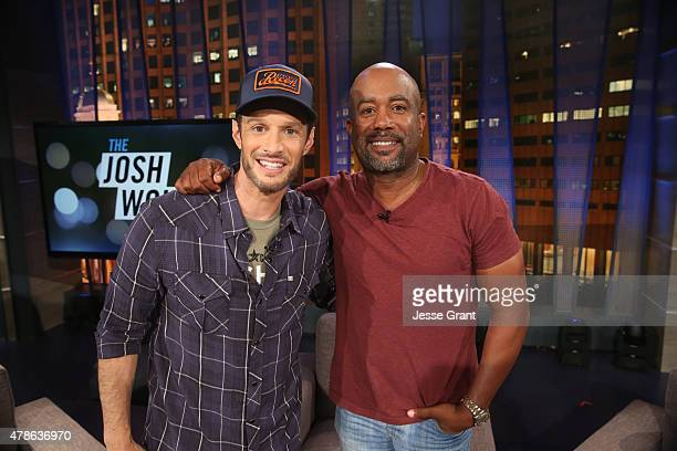 Josh Wolf stand with Darius Rucker who is a guest panelist on an allnew episode of The Josh Wolf Show June 24 2015 in Los Angeles California The show...