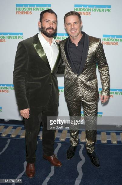 Josh Wood and Jake Shears attend the 2019 Hudson River Park Gala at Cipriani South Street on October 17 2019 in New York City