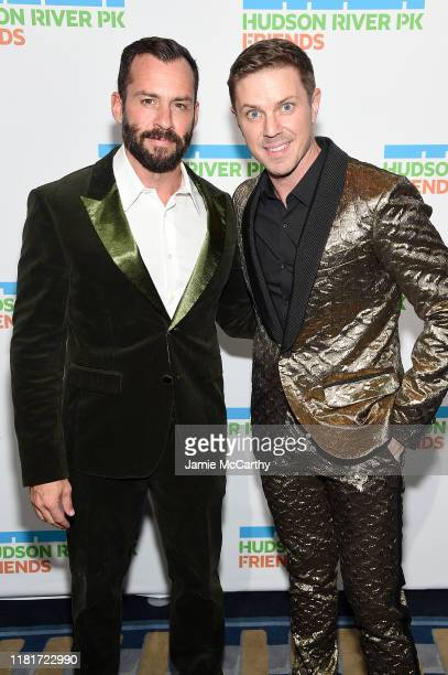 Josh Wood and Jake Shears attend the Hudson River Park Annual Gala at Cipriani South Street on October 17 2019 in New York City