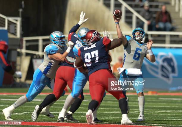 Josh Woodrum of the Salt Lake Stallions during a game between the Salt Lake Stallions and the Memphis Express on March 16 at RiceEccles Stadium in...
