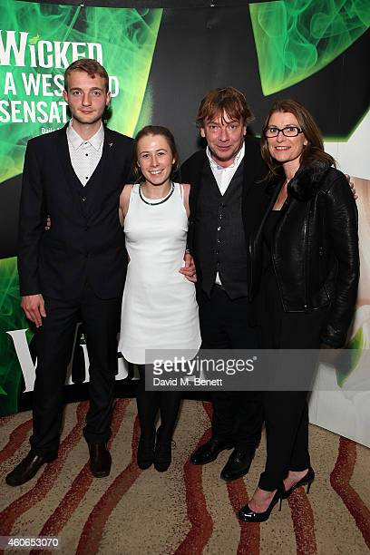 Josh Woodyatt Jess Woodyatt Adam Woodyatt and Beverley Woodyatt attend an after party following the media night performance of 'Wicked' at the...
