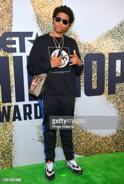Josh X arrives at the BET Hip Hop Awards 2018 at Fillmore Miami Beach on October 6 2018 in Miami Beach Florida