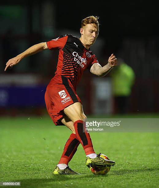 Josh Yorwerth of Crawley Town in action during the Sky Bet League Two match between Crawley Town and Northampton Town at Checkatrade Stadium on...