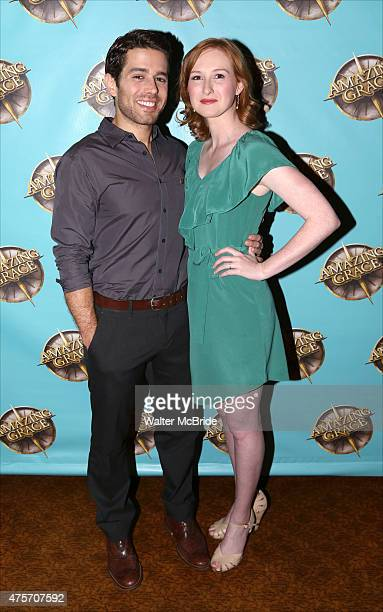 Josh Young and Erin Mackey attend the Broadway Press Preview for 'Amazing Grace' at 54 Below on June 2 2015 in New York City