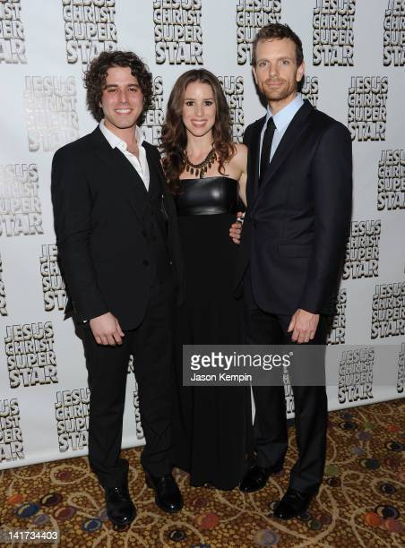 Josh Young Chilina Kennedy and Paul Nolan attend the after party for the Jesus Christ Superstar Broadway opening night at the New York Hilton – Grand...